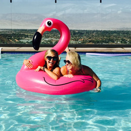 water ring game Canada - Inflatable Flamingo Swimming Ring Pool Float Giant Mattress Mat Swimming Circle for Adult Beach Summer Water Game Party Toy
