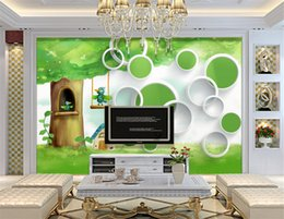 $enCountryForm.capitalKeyWord NZ - Custom 3D Wall Mural Wallpaper High Quality Non-woven Cartoon Tree Bird Children's Room Living Room TV Backdrop Photo Wall Paper
