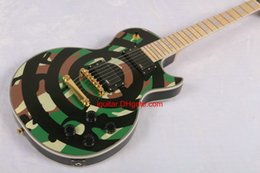 $enCountryForm.capitalKeyWord NZ - 2017 New Green Guitar ZAKK Wylde bullseye Camouflage Electric Guitar In Stock New Arrival Free Shipping