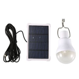 solar lights for camping tent NZ - LED Solar Bulb Light Powered Portable Solar Camping Tent Light for Keeping 5-6 Hours in Lighting