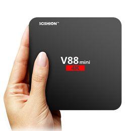 Dvb s set top box online shopping - 2017 Android V88 tv boxe Cheapest RK3229 Quad Core GB GB Smart Tv Box WiFi D HDMI TV Cheap Set top Box Media Player
