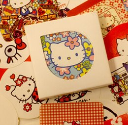 Discount diary stickers labels - Wholesale- 38Pcs Pack DIDA DIDA Novelty Hello Kitty Kawaii DIY Memo Label Sticker Diary Stickers Home Scrapbooking Decor