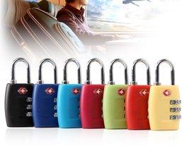 Resettable Locks Canada - Customs Luggage Padlock TSA338 Resettable 3 Digit Combination Padlock Suitcase Travel Lock TSA locks