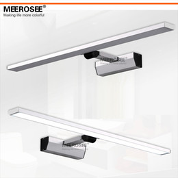 Hot Selling Modern LED White Acrylic Mirror Wall Light Fitting 10watt Bathroom Lamp Chrome Simple Lustre Promote Shipping