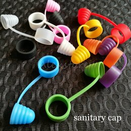 $enCountryForm.capitalKeyWord Australia - Dustproof Prevent Slippery Drop One Silicone Cap Universal Silicone Sanitary Cap Anti skid Antiskid Ring Fit Atomizer Box Mod 10 Colors