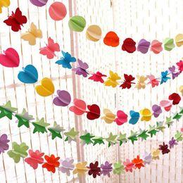 $enCountryForm.capitalKeyWord NZ - Hanging Paper Garland Heart Star String Wedding Party Birthday Decor Banner Room Door Curtain Decoration 3D ZA4896