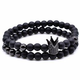 La braceLet online shopping - crown charm bracelet unids unidades mm negro ronda natural comprimidos negras de la mujer pulseras