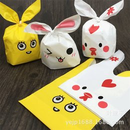 Biscuit snack Bags online shopping - Hot multicolor cute rabbit ear bags Self adhesive Plastic Bags for Biscuits Snack Baking Package bag IB269