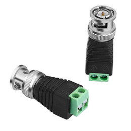 cctv accessories NZ - Coaxial Coax CAT5 BNC Male Connector for CCTV Camera Security System Surveillance Accessories New Arrival