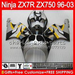 1999 Kawasaki Zx7r NZ - 8Gifts 23Colors For KAWASAKI NINJA ZX7R 96 97 98 99 00 01 02 03 Silcer black 18HM19 ZX750 ZX 7R ZX-7R 1996 1997 1998 1999 2000 2003 Fairing