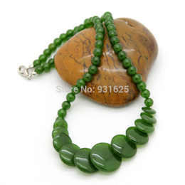 Chinese jade circle pendant online chinese jade circle pendant online shopping top quality chinese natural green jade round slice pendants necklace fashion jewelry beads necklace mozeypictures Gallery