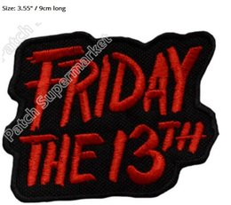 "$enCountryForm.capitalKeyWord NZ - 3.55"" Friday The 13th Jason Mask patch red TV Movie 2017 Film Series Costume Emblem Morale iron on sew on badge transfer"