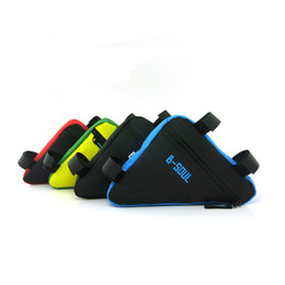 Wholesale Hot Bike Cellphone Accessories Triangle Waterproof Cycling Bike Bicycle Front Tube Frame Pouch Bag red blue yellow black