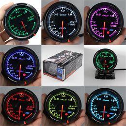 13 Arka Işık Rengi 1 60mm Yarış DEFI BF Bağlantı Otomatik Ölçer Boost Guage Turbo Sensörü Göstergeleri Oto Metre