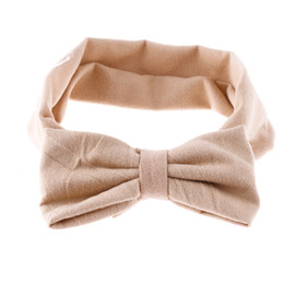Étirement En Gros Pas Cher-Vente en gros - 1 Pcs Baby Girls Cotton Bow Hairband Kids Headband Stretch Turban Knot Head Wrap Hair Bands Accessoires pour cheveux