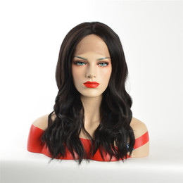 big curl hair wigs Australia - kabell African American fashion Fashion wigs lace front wigs 1B # curls hair long lace front wigs White women Big wave hairstyle curls
