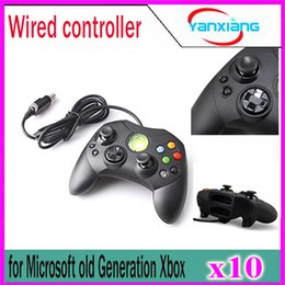 Video game generation online shopping - 10pcs Wired Controller S Type A for Microsoft Old Generation Xbox Console Video Game control range YX XBOX