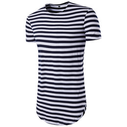 Barato Roupas Grossistas Camiseta Homens-2017 Tops Brand T Shirt Atacado Men's Stripes Printing Tshirts Europeu estilo americano Summer Pop Clothing