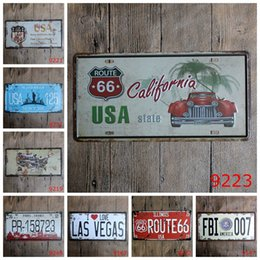 license plate europe NZ - USA State California 30X15 CM Iron Paintings The City Of New York Metal Tin Sign License Plates Tin Poster European Style 3 99rjy