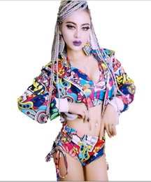 China (top+shorts+jacket) 3 pieces sets new female hip hop jazz DJ costumes nightclub bar DS singer costumes lead dance prom performance clothing suppliers