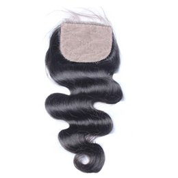 $enCountryForm.capitalKeyWord UK - Silk Base Lace Closure Virgin Body Wave Bleached Knots Unprocessed Brazilian Peruvian Indian Malaysian Human Hair Free Part Natural Color