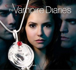 Barato Cosplay Dropshipping-Dropshipping The Vampire Diaries Necklace Elena Vervain 925 Steling Colar de Prata Verbena Locket Pendant Cosplay Jóias Hot Free Shipping