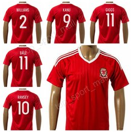 344a0da48 2018-18 Welsh Soccer Jersey Football Shirt Uniform Kits Foot Tshirt 11  Gareth Bale 11 Ryan Giggs 10 Aaron Ramsey 9 VOKES Custom Thai Quality