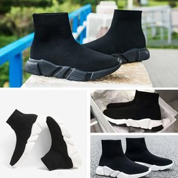Barato Alta Qualidade Barato Meias-Double Box High Quality Speed ​​Trainer Casual Shoe Man Mulher Sock Boots High Top Stretch-Knit Botas Casual Race Runner Sneaker Tamanho barato 46