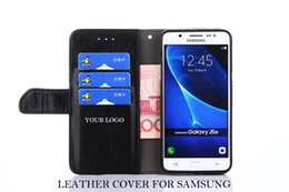 note3 wallet case cover Canada - Wholesale Custom Logo Wallet Filp Leather Phone Cover for Samsung note3 note4 note5 Phone Cover with Stand Holder