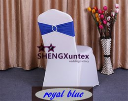 Wholesale Royal Blue Color Spandex Lycra Chair Band Chair Sash For Wedding Chair Cover