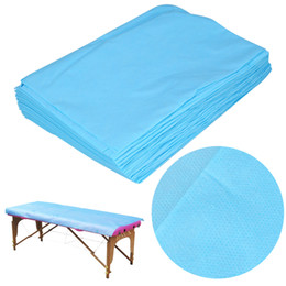 Spa Beds UK - 20 50Pcs Beauty Massage Disposable Cover 175 x 75cm Waterproof SPA Bedsheet Salon Bed Table Cover Non-Woven Bed Sheet Cover