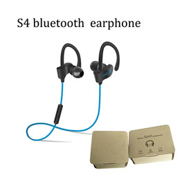 Free ip online shopping - high quality S4 Stereo sport wireless bluetooth inear handfree earphone fit for samsung S7 note ip s with DHL free