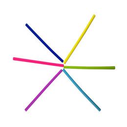 $enCountryForm.capitalKeyWord Canada - Universal Tubularis 6 Six Straight Bend Silica Gel Straw Use For Drinking Smoothies Juice Soda Silicone Straws Non Toxic 1 5rh B R