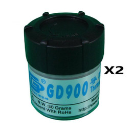 cpu pieces 2019 - Wholesale- 2 Pieces 30 Grams GD900 Thermal Conductive Grease CPU Paste Silicone Plaster Heatsink Compound discount cpu p