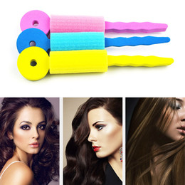 setting hair rollers Australia - 3pcs set Hair Care Magic Sponge Soft Twist Hair Curler Styling Hair Roll Rollers Leverage DIY Tools for Women Magique