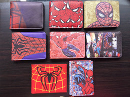 avengers dresses NZ - Marvel DC Superhero Anime Wallet The Avengers Hero Spider-Man Wallet Cute Teenager Boy's Spider Spiderman Wallet & Purse Leather