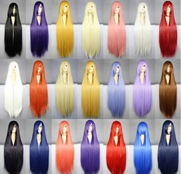 Wholesale cosplay custome for sale – halloween MCOSER Women Harajuku cm Long Straight Wig Synthetic High Quality Hair Custome Party Cosplay Wigs Colors