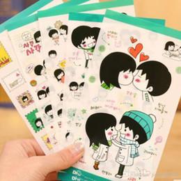 Diy Boys Toys UK - Classic Toys Boy and Girl Kawaii Planner Stickers Cartoon Cute Sweet Lovers Diary Decor Notebook DIY Decoration 5 sheets set