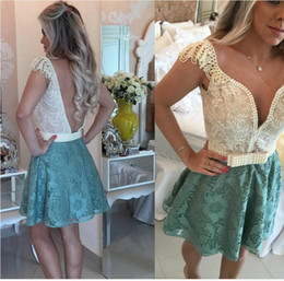 $enCountryForm.capitalKeyWord NZ - 2017 Vestido Formatura Curto Green Homecoming Dresses Saudi Arabic Style Sweetheart Backless Pearls Lace Sho Min Cocktail Graduation Dresses