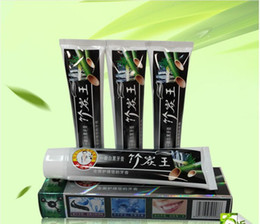 Wholesale 105g manufacturers bamboo carbon black toothpaste Health care tooth whitening scouring king bamboo charcoal toothpaste