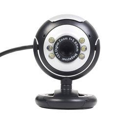 USB 6 LED 12.0 megapíxeles USB PC Webcam Cámara web + Visión nocturna + Micrófono / Micrófono para MSN, ICQ, AIM, Skype