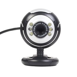 USB 6 LED 12.0 Megapixel USB PC Webcam Web Camera + Night Vision + Mic   Microphone For MSN, ICQ, AIM, Skype