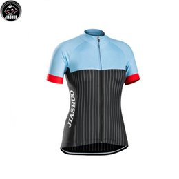 Women Customized NEW Blue Black   White lines Bike mtb road RACE Team Pro  Cycling Jersey Shirts   Tops Clothing Breathing Air JIASHUO 91a5faa46
