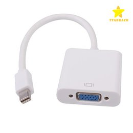 Discount mini display port for macbook - Latest Thunderbolt Mini Displarport Display Port DP Male to VGA Female Adapter Cable for HDTV Apple Macbook Air PC