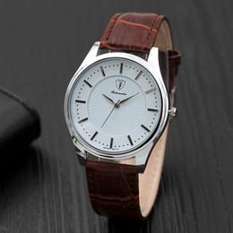 $enCountryForm.capitalKeyWord Canada - Hot fashion Casual Sport watch men Quartz Watches Men's Brown Black Leather Glass Wristwatches Super Modern Gift for Male