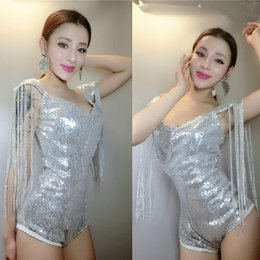 $enCountryForm.capitalKeyWord Canada - Jazz silver Sequined tassels bodysuit party nightclub singer dancer stage clothing female sexy costumes stars bar show