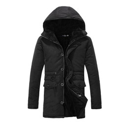 $enCountryForm.capitalKeyWord Canada - Wholesale- 2016 Winter Fashion Mens Winter Quilted Jackets Long Hooded Expedition Parka For Man Cotton Lined Warm Coats LQ646