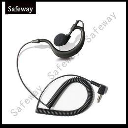 Baofeng Speaker Microphone Canada - 3.5mm plug G type Listen only earpiece receive only earphone for baofeng walkie talkie two way radio speaker microphone