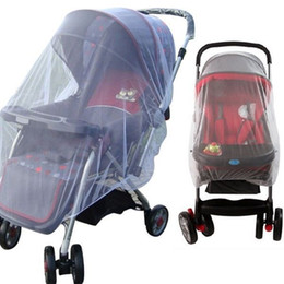 Wholesale-Newest hot Buggy Pram Protector Cot Pushchair Mosquito Net Midge Insect Bug Crib Netting White on Sale