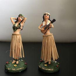 Car Ornaments Canada - 100pcs Artware Ornament Dancing Hula Gilrs Swing Dolls Toys Home&Car Decoration Novelty Dancing Girl Dolls 11cm